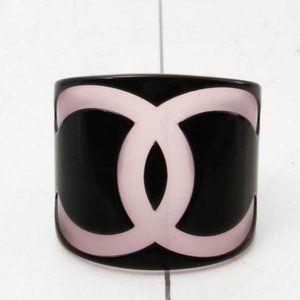 Chanel Rare Medium-Large Size Coco CC Cuff Bracele